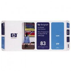 HP Tete d`impression 83 original + nettoyant - Capacité standard 680ml multi - Pack - Cyan