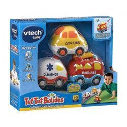 Tut Tut Bolides - Coffret trio Pompiers (Pompiers + Tracteur + Helico)