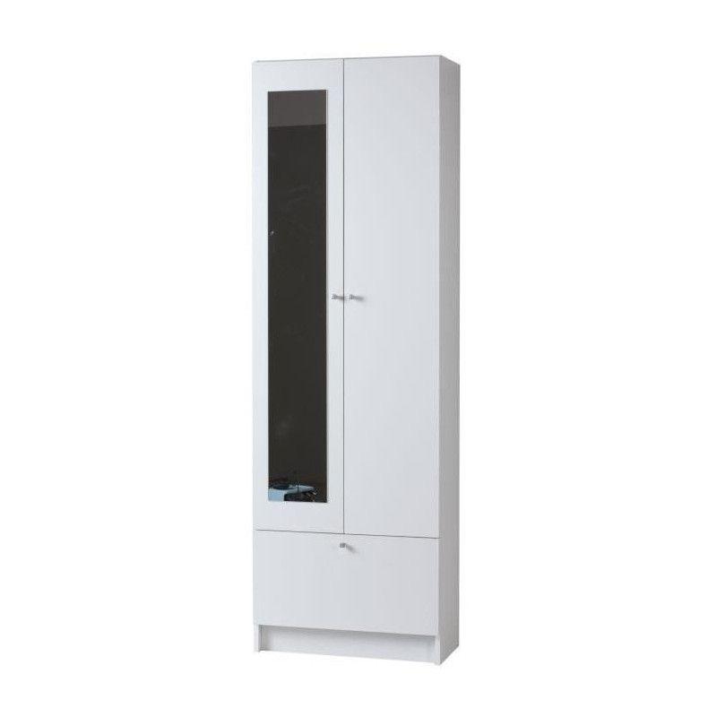 slash armoire de salle de bain l 59 cm blanc. Black Bedroom Furniture Sets. Home Design Ideas