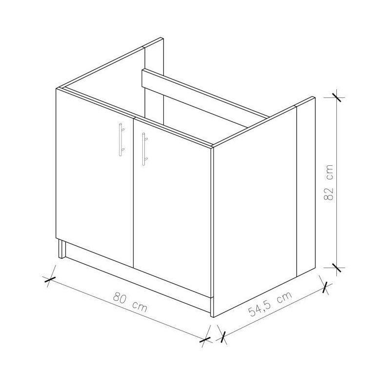 city meuble sous vier 80 cm rouge laqu. Black Bedroom Furniture Sets. Home Design Ideas