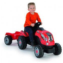 SMOBY Tracteur Farmer XL Rouge + Remorque