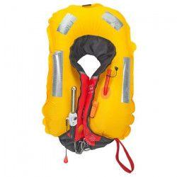 PLASTIMO Gilet de Sauvetage Pilot 165 - Automatique Pro-Sensor + harnais - Rouge