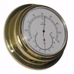 ALTITUDE Thermometre / Hygrometre marin - Laiton - ø 127 mm