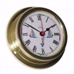 ALTITUDE Horloge marine avec feux de navigation - Laiton - ø 127 mm