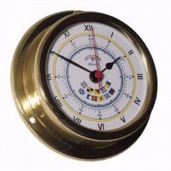 ALTITUDE Horloge marine avec drapeaux signal - Laiton - ø 127 mm