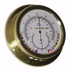 ALTITUDE Thermometre marin / Hygrometre avec signalisation - Laiton - ø 127 mm