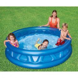 INTEX Piscine gonflable ronde Soft Side Pool pour enfant et famille - 1,88x0,46m