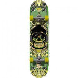 TRUE DRIVE Skateboard Green Skull