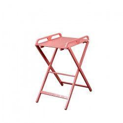 COMBELLE Table a langer JADE Pliante laque rose