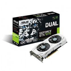 ASUS Carte graphique NVIDIA GeForce GTX 1070 DUAL-GTX1070-O8G - 8 Go - GDDR5