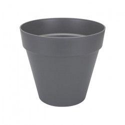 ELHO Pot de fleur rond - 50 cm - Gris anthracite