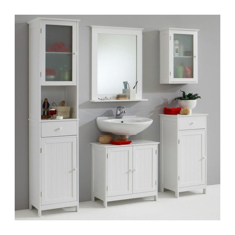 stockholm colonne de salle de bain l 40 cm blanc. Black Bedroom Furniture Sets. Home Design Ideas