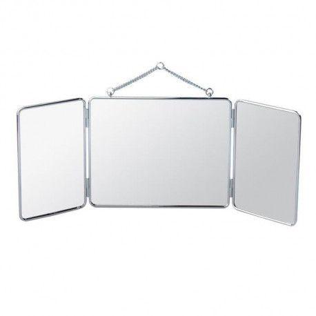 GERSON Miroir triptyque a suspendre - 30 x 24,5 cm