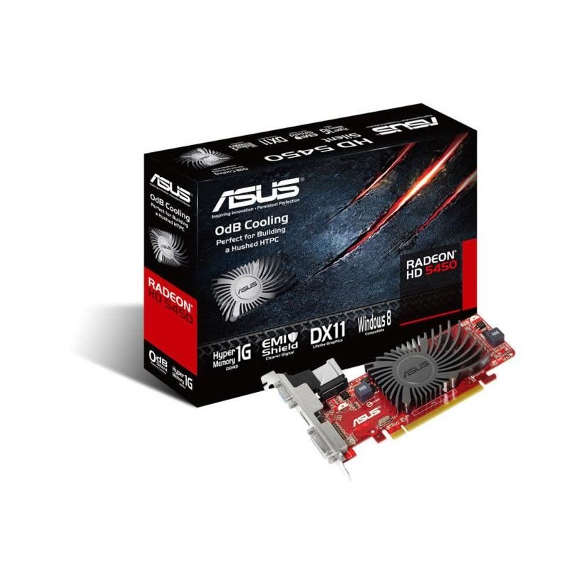 asus carte graphique hd5450 sl 1gd3 l v2 amd radeon hd 5450 1go ddr3. Black Bedroom Furniture Sets. Home Design Ideas
