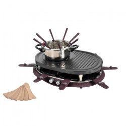 KALORIK TKG RAC 1009 FO CS Appareil a raclette avec fondue ? Noir et Bordeaux