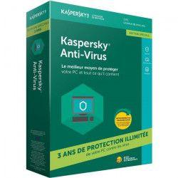 KASPERSKY Anti-Virus 2018 (1 Poste/ 3 Ans) - Edition Spéciale