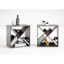 KIRI Set de 2 meubles étageres de cuisine L 53 cm - Décor taupe