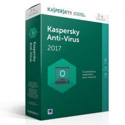 Kaspersky Antivirus 2017 3 Postes / 1 An