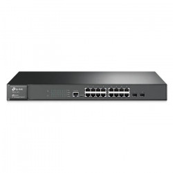 TP-LINK Switch administrable niveau 2 T2600G-18TS 16 ports Gigabit et 2 emplacements combinés SFP