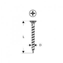 BOSCH Vis de montage rapide a pas fin avec pointe de perçage 3 -9 x 36