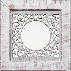 MILAN Miroir MDF 35x35 cm Blanc