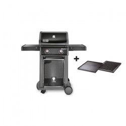 WEBER Barbecue Spirit Classic E-210 avec plancha - Acier émaillé - 48 x 12 cm - Noir