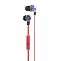 SKULLCANDY Écouteurs Intra-auriculaires Smoking Bud 2 - Avec micro - Rouge, Transparent et Noir