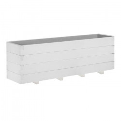 Jardiniere Domino quadruple - 30,5 x 122 x 40 cm - Lasuré en blanc