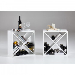KIRI Set de 2 meubles étageres de cuisine L 53 cm - Décor blanc