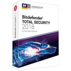 BITDEFENDER Total Security 2018 - 2 ans - 10 appareils