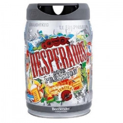 DESPERADOS Fût de biere Blonde Téquila - Compatible Beertender - 5 L
