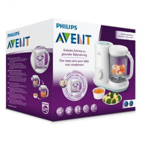 PHILIPS AVENT Robot cuiseur mixeur pour bébé Essential SCF86202 Exclusivité !