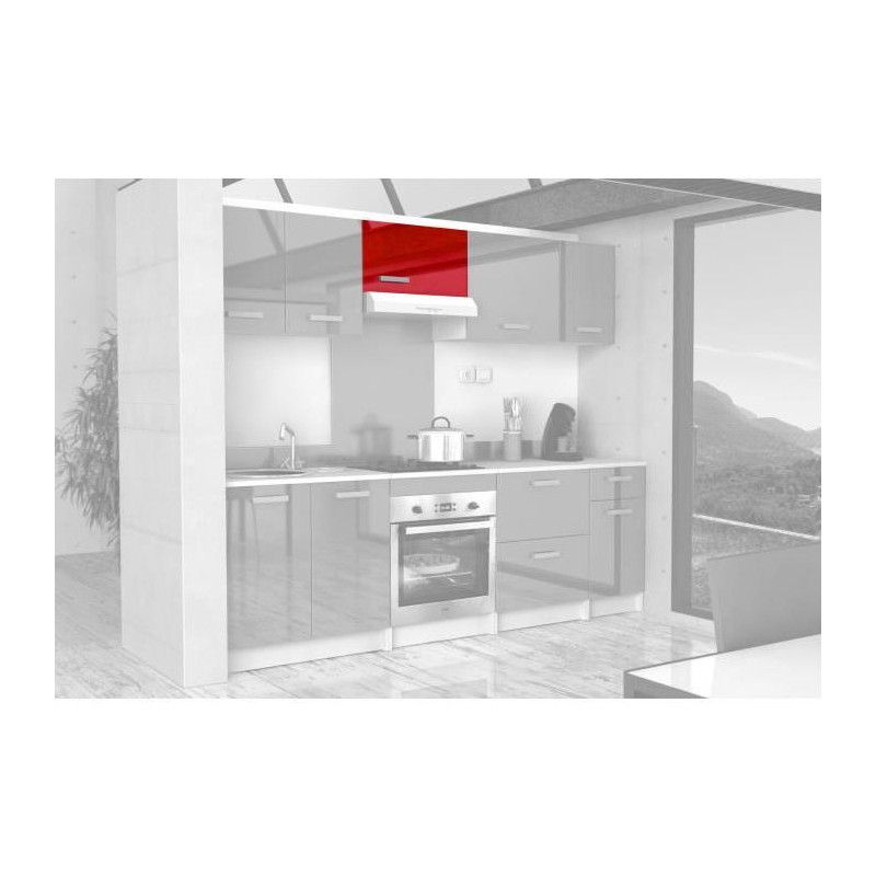 start meuble sur hotte l 60 cm rouge brillant. Black Bedroom Furniture Sets. Home Design Ideas