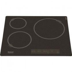 INDESIT KIC 633 CF - Table de cuisson induction - 3 zones - 7600 W - L 59 x P 52 cm - Revetement verre - Coloris