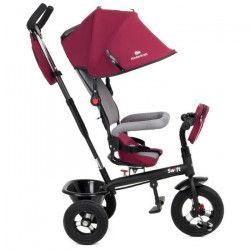 KINDERKRAFT Tricycle enfant/bébé Mixte - poussette évolutive - de 1 a 5 ans - Rouge