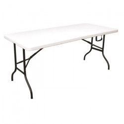 Table Pliante Camping Buffet Fiesta Blanche. Longueur 180 cm - Largeur 76 cm - Hauteur 74 cm