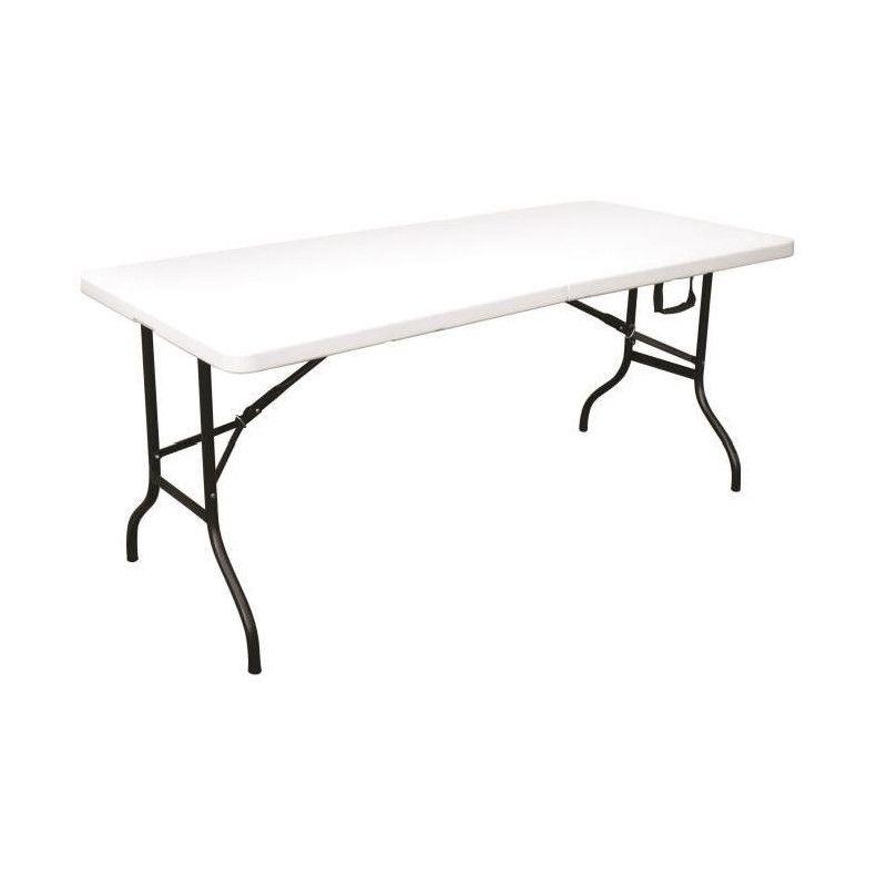 table pliante camping buffet fiesta blanche longueur. Black Bedroom Furniture Sets. Home Design Ideas