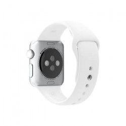 Apple Bracelet de montre connectée Sport Band pour iWatch - 38 mm - Blanc