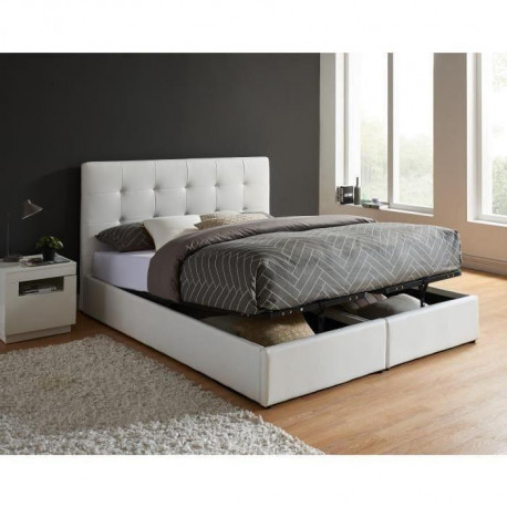 perla lit coffre 2 sommiers a lattes contemporain en. Black Bedroom Furniture Sets. Home Design Ideas