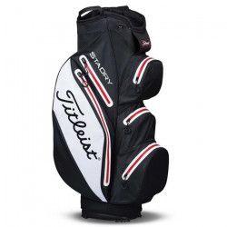 TITLEIST Sac de Golf StaDry Cart - Noir, Blanc et Rouge
