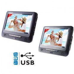 TAKARA VRT179 Lecteur DVD portable 2 écrans 9` USB