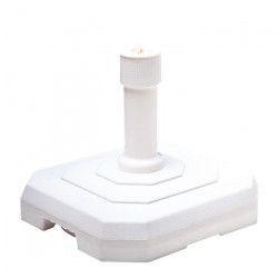 EDA PLASTIQUE Pied de parasol béton carré - Blanc - 25kg