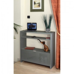 SCHoeS Console style contemporain gris brillant Brillant - L 93 cm