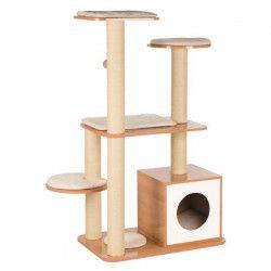 TRIXIE Arbre a chat en bois Laia - Brun et blanc - Pour chat