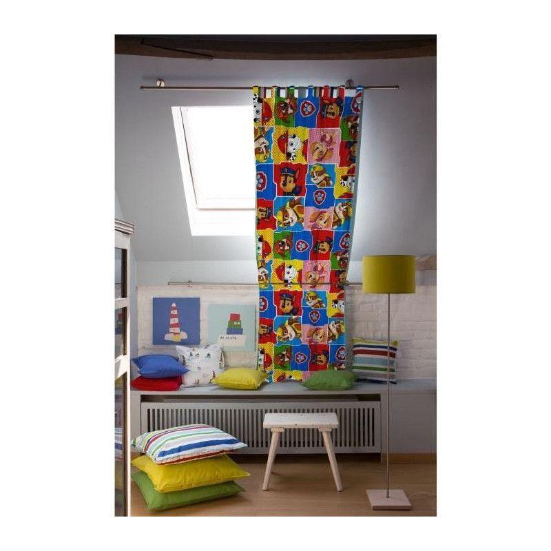 pat patrouille rideau 140x250cm pour enfant. Black Bedroom Furniture Sets. Home Design Ideas