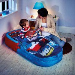 WORLDS APPART THOMAS ET SES AMIS Lit d`Appoint / Sac de couchage enfant avec sac de transport ReadyBed