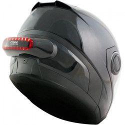 COSMO CONNECTED Feu additionnel pour casque moto adhésif USB - Noir brillant