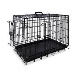 NOBBY Cage de transport métallique noire pour chien 93 x 62 x 69cm