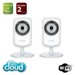 D-Link - Camera IP WiFi N jour/nuit DCS-933L X 2