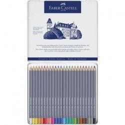 FABER-CASTELL Boîte de 24 Crayons de couleur Goldfaber aquarelle